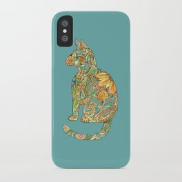 Calico Cat Blue iPhone Case