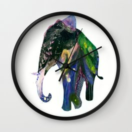 Elephant in the Cosmos Wall Clock