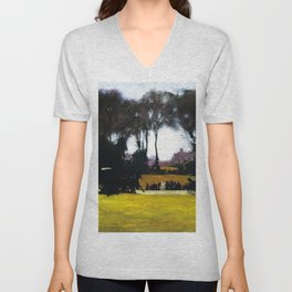 Central Park - New York City Landscape Painting by George Wesley Bellows Unisex V-Neck