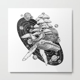 Space Whale Metal Print