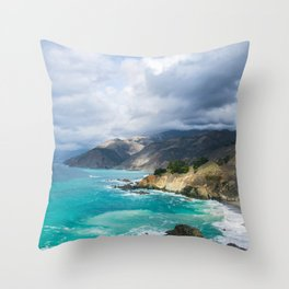 Parting Clouds in Big Sur Throw Pillow