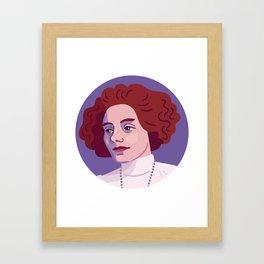 Queer Portrait - Zinaida Gippius Framed Art Print