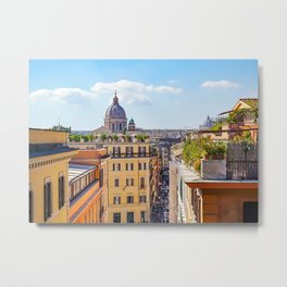 ROME the Streets:  Rooftop View of Rome, Italy Metal Print