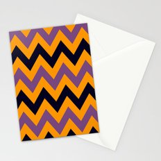 Halloween Chevron Stationery Cards