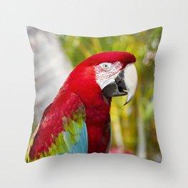 Green Winged Macaw Ara chloropterus Lahaina Maui Hawaii Throw Pillow