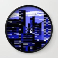 pxl cityscape Wall Clock