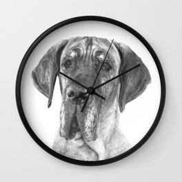 Black and White Great Dane Wall Clock