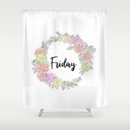 Friday fresh collection 2 Shower Curtain