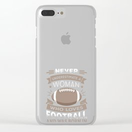 Funny Football Woman Birthday product Gift Born in September Clear iPhone Case