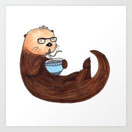 Ramen Otter Art Print