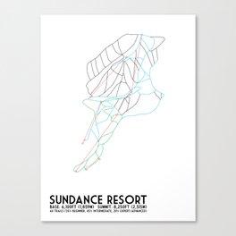 Sundance Mountain Resort, UT - Minimalist Winter Trail Art Canvas Print