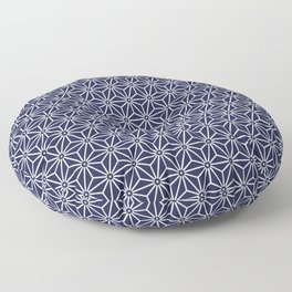 Japanese Yukata Jinbei Asanoha Navy blue Floor Pillow