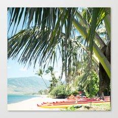 Aloha Sugar Beach Canvas Print