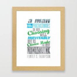 Procrastination Framed Art Print