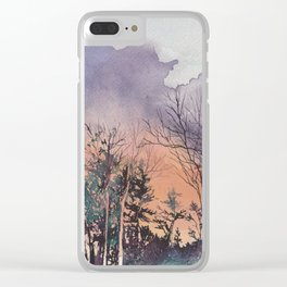 Clouds of Fire Clear iPhone Case