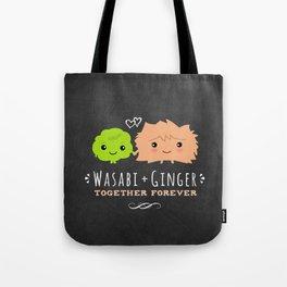 Wasabi and Ginger Together Forever Tote Bag