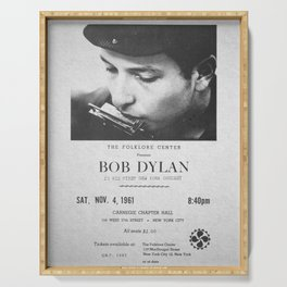 Bob Dylan Poster, 1961, First NY Concert Serving Tray