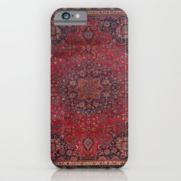 Old Century Persia Authentic Colorful Purple Blue Red Star Blooms Vintage Rug Pattern iPhone Case