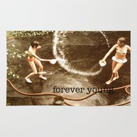 forever young Area & Throw Rugs featuring forever young. by Sammi