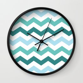 Chevron forest Wall Clock