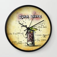 cuba Wall Clocks featuring Cuba Libre by jamfoto