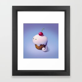 Art Snacks: The Cupcake Cat Framed Art Print