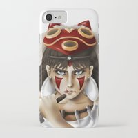 mononoke iPhone & iPod Cases featuring Mononoke by Cristina Valero