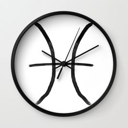 Pisces Grit Wall Clock