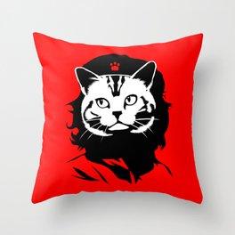 Purrevolucion Throw Pillow
