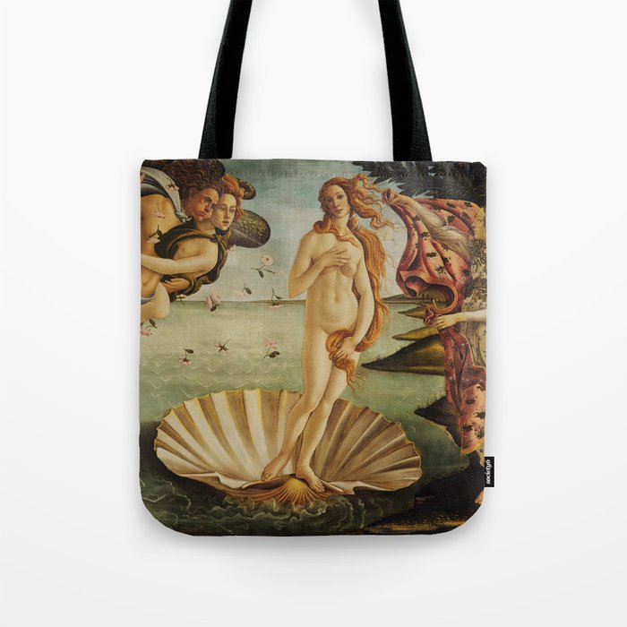 The Birth of Venus by Sandro Botticelli Tote Bag