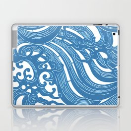 Stencil with Pattern of Waves,19th century Japan (Edited Blue) Laptop & iPad Skin