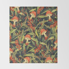 Vintage Garden 18 (Sacred Forest) Throw Blanket
