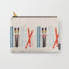 Retro Ski Illustration Carry-All Pouch