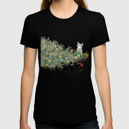 Cat knocked over the Christmas tree T-shirt