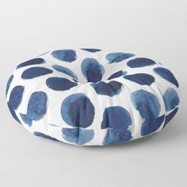 Watercolor polka dots Floor Pillow