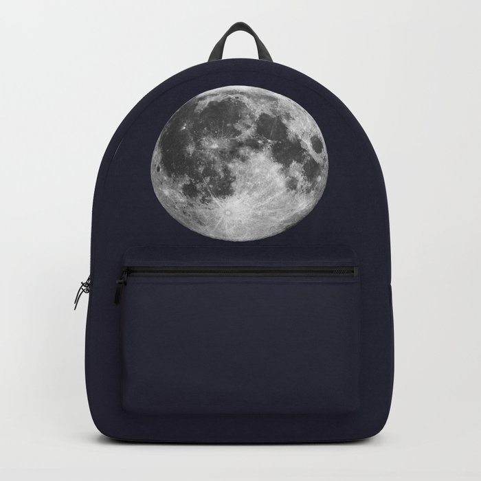 Full Moon on Navy Minimal Design Backpack