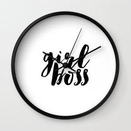 Printable Poster,Girl Boss, Like A Boss, Girl Room Decor,Gift For Her,Girly,Inspiration,Office Decor Wall Clock