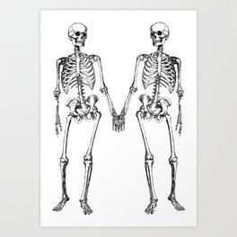 Two skeletons Art Print