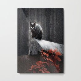 BLACK CAT II Metal Print