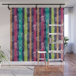White Floral on Pastels Wall Mural