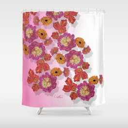 Peony Festivity Shower Curtain