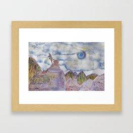 Cusco cartoon Framed Art Print