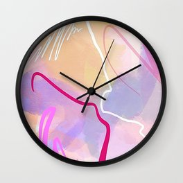 Pink Laces 2 Wall Clock