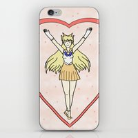 sailor venus iPhone & iPod Skins featuring Sailor Venus by Vickie V. Illustration