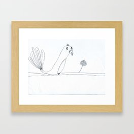 Oiseau Framed Art Print