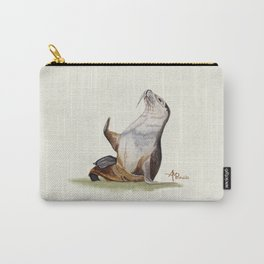 Sea Lion Watercolor Carry-All Pouch