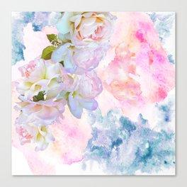 Pastel Roses Pink Canvas Print