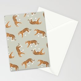 Tiger Trendy Flat Graphic Design Stationery Cards