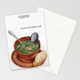 La Cuisine Fusion - Mussels with Caldo Verde Stationery Cards