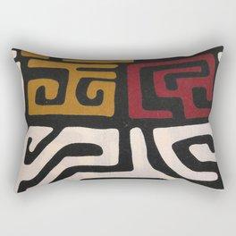 African Mudcloth Print Rectangular Pillow